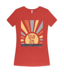 lez a lez - t-shirt estampada seja sol laranja papaia