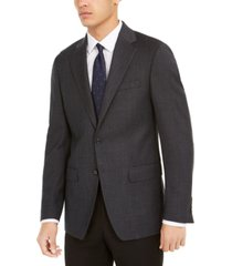 calvin klein men's slim-fit mini-check wool sport coat