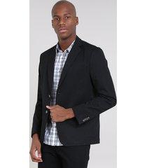 blazer masculino com bolsos preto