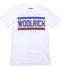 woolrich white cotton jersey t-shirt