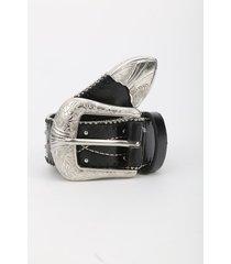 cinturón negro-plateado mng