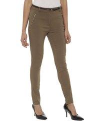 pantalón privilege vicuna marrón - calce ajustado