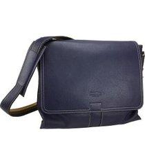 bolsa carteiro e tiracolo para notebook em couro 9701md
