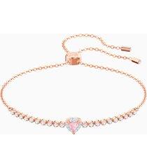 braccialetto one, multicolore, placcato oro rosa