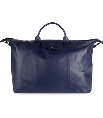 longchamp women's le pliage cuir travel bag - navy