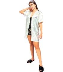 kimono dama color beich womanpotsherd ref: coat satin