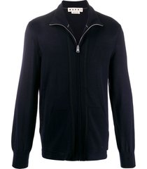 marni zip up sweater - blue