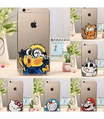 new cute soft silicon tiger cat hello kitty despicable me minion case iphone 6