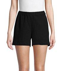 textured gauze shorts