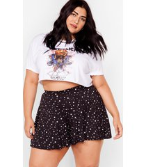 womens let the sky fall plus high-waisted shorts - black