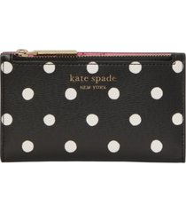 kate spade new york spencer sunshine dot small slim bifold wallet