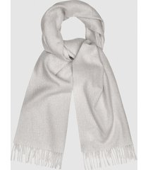 reiss saskia - lambswool cashmere blend scarf in light grey, womens
