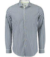 overhemd perfect fit gestreept blauw