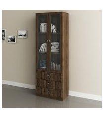 armário p/ escritório tecno mobili me4114 2 portas vidro 3 gavetas