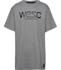 wesc t-shirt t-shirts short-sleeved grå wesc