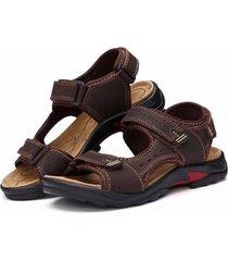 verano hombres sandalias de cuero zapatos transpirable sandalias de playa outdoor