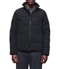 canada goose 'woolford' slim fit down bomber jacket, size small in navy at nordstrom