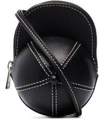 jw anderson nano cap crossbody bag - black