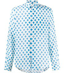 peninsula swimwear teulada printed shirt - white