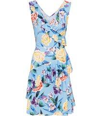 abito midi a fiori (blu) - bodyflirt boutique