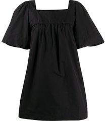 three graces sofia wide sleeve dress - black