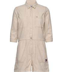 short jumpsuit jumpsuit beige tommy jeans