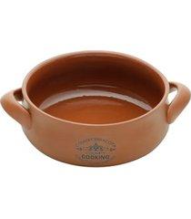 caçarola em cerâmica lyor country cooking 19cm marrom