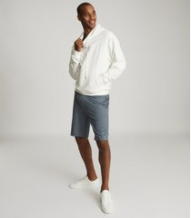 reiss hunt - jersey shorts in sky blue, mens, size xxl