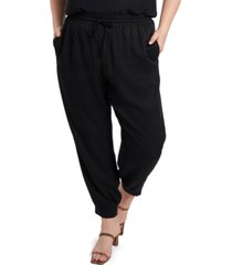 1.state trendy plus size drawstring-waist pants
