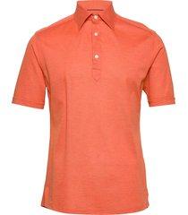 blue polo short sleeve popover shirt polos short-sleeved orange eton