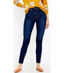 loft high rise skinny jeans in classic dark indigo wash