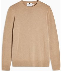 mens brown toffee twist essential sweater
