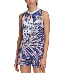 adidas originals cotton tie-dyed tank top