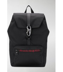alexander mcqueen urban logo print backpack
