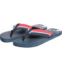 sandalias azul oscuro
