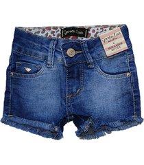 bermuda jeans garota lua shorts manabana azul