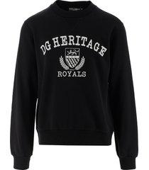 dolce & gabbana designer sweatshirts, black cotton jersey men's sweatshirt