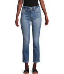 frame women's sylvie straight leg jeans - blue - size 24 (0)