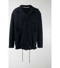 valentino zipped hooded jacket