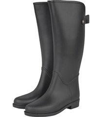 botas de lluvia impermeable golden bowtie bottplie - negro