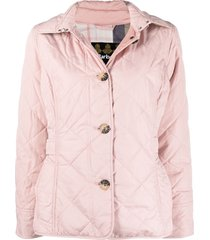 barbour quilted long-sleeve jacket - pink