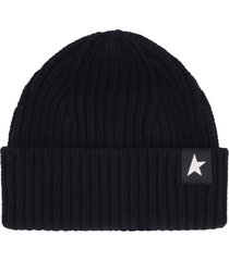 golden goose damian ribbed knit beanie