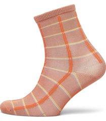 square rainbird sock lingerie socks regular socks orange becksöndergaard