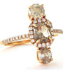 'galaxy' diamond 18k rose gold ring