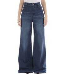 chloé wide flare jeans