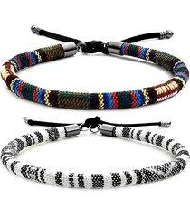 2 pulseira gafeno de corda feminina