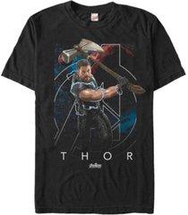 marvel men's avengers infinity war the mighty lightning swing of thor short sleeve t-shirt