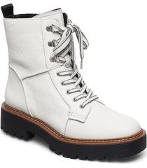 laure bormio tumbled leather shoes boots ankle boots ankle boot - flat vit sam edelman