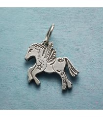sterling silver winged horse charm