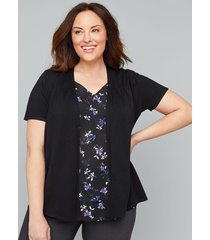 lane bryant women's short sleeve cardigan 26/28 black